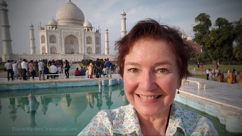 Elaine at the Taj Mahal