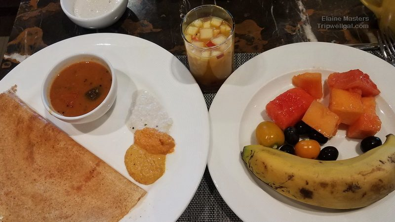 My breakfast feast at the Holiday Inn in New Delhi