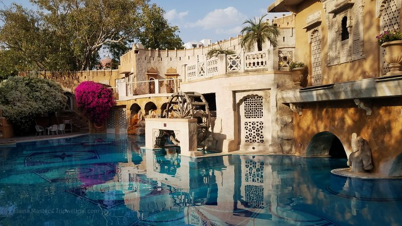 The pool at Jodhpur's Ajit Bhawan Heritage Hotel