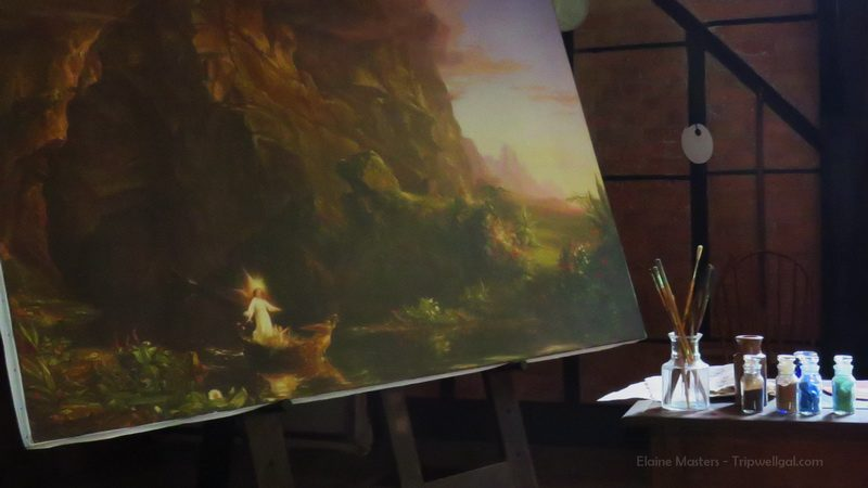 Inside the studio of Thomas Cole, founder of the Hudson School of Painting