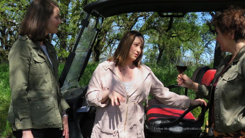 One stop along the La Crema Golf Cart Tour.