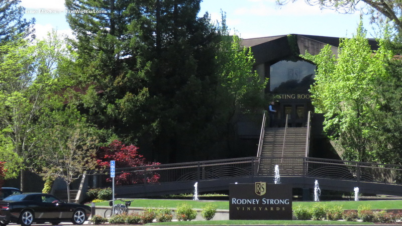 Rodney Strong wine tasting center in Sonoma