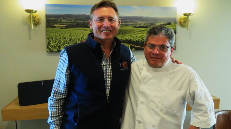 Christopher O'Gorman and Winery Chef, Alejandro Garcia of Rodney Strong Vineyards