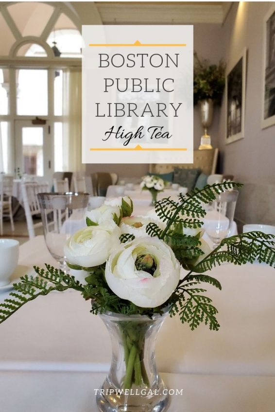 Boston Public Library high tea in the Courtyard Tea Room