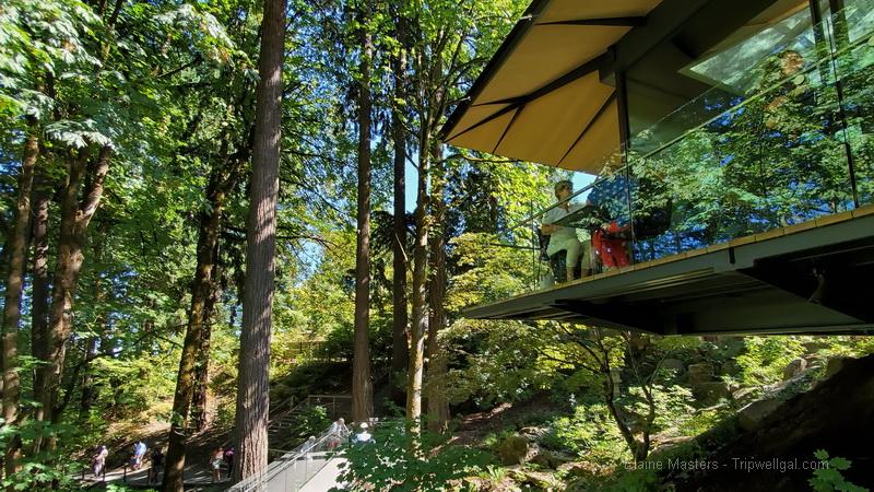 Tea house veranda Portland Oregon Japanese Garden