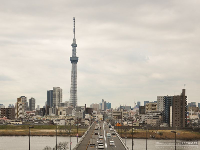 Tokyo Sky Tree from the bridge