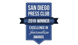Society of Professional Journalists and San Diego Press Club Award Badge