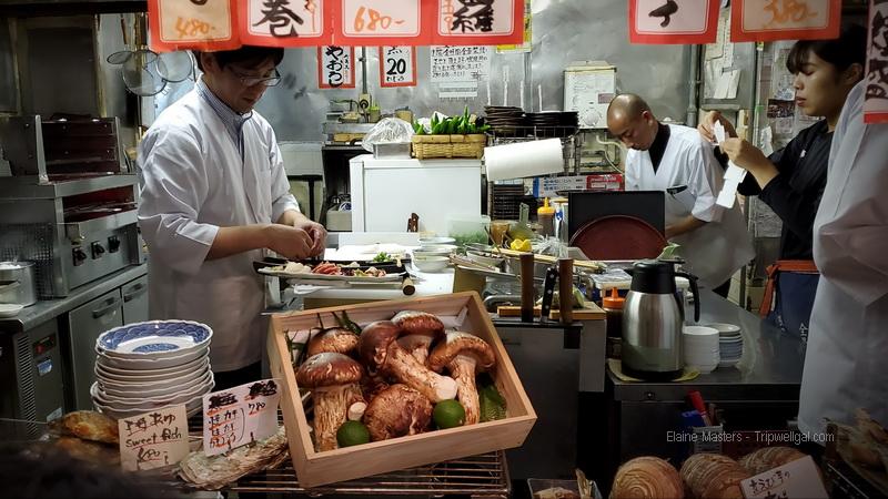 Izakaya dining in Kyoto's Gion district