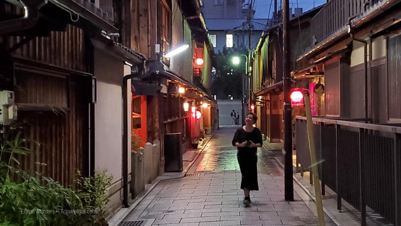 Walking Kyoto's Gion district after dark is a step back in time.