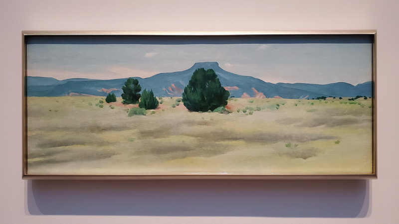 Georgia O'Keeffe's Mount Pedernal inside the Santa Fe Museum