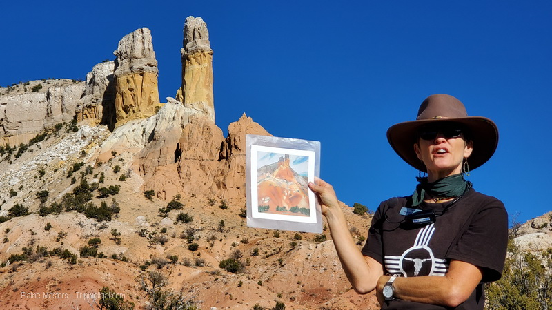 Georgia O'Keeffe Landscape Tour guide at Ghost Ranch