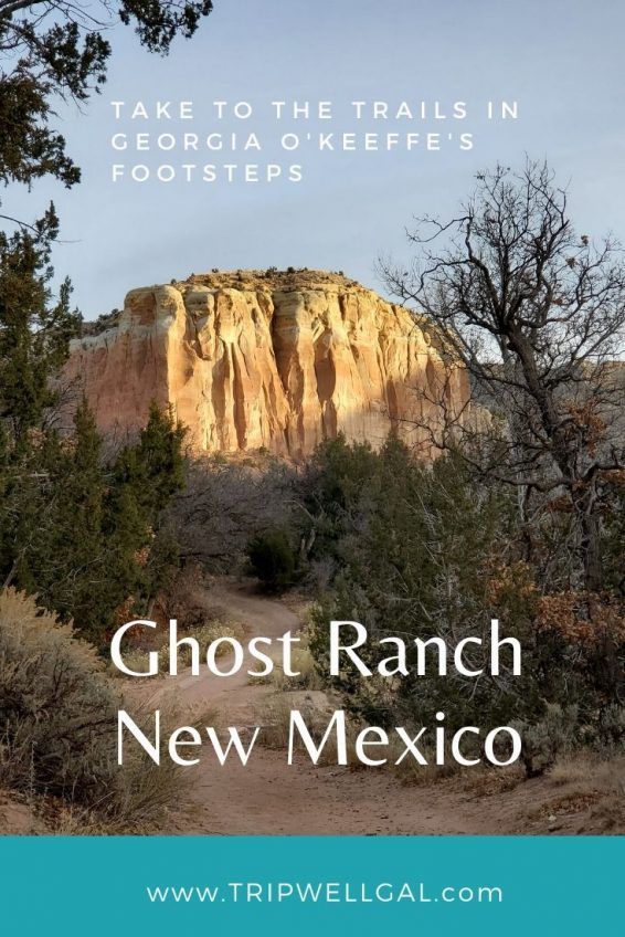 Ghost Ranch hikes in New Mexico pinterest graphic 1