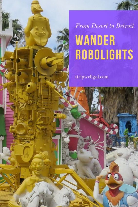 Wander Robolights Pin for robot sculptures
