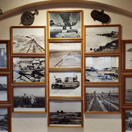 HIstorical photos inside the Yuma Landing Restaurant and Bar