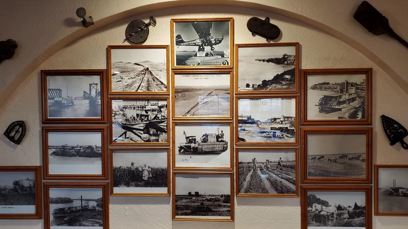 HIstorical photos inside the Yuma Landing Restaurant and Bar