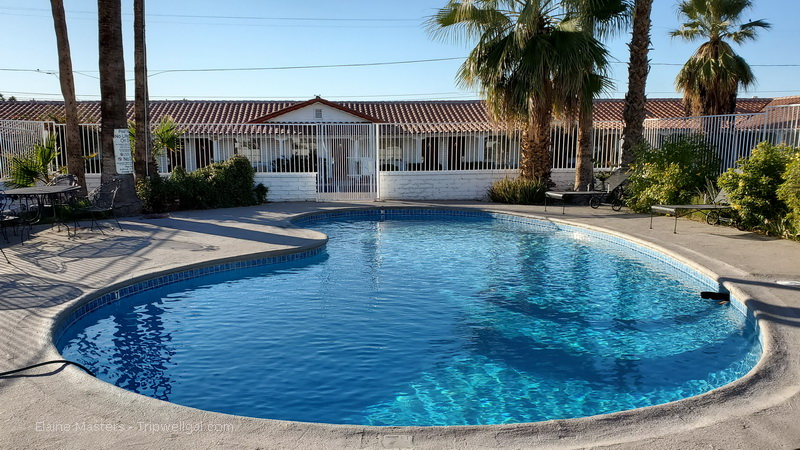 One of two pools at the Historic Coronado Hotel in Yuma