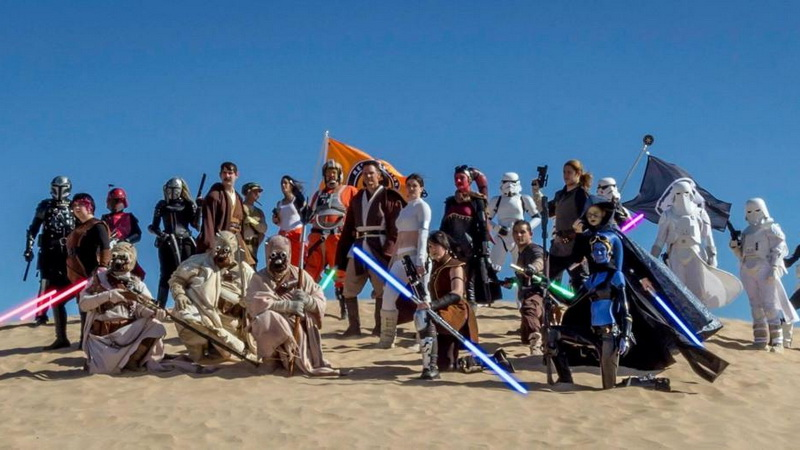 Star Wars gathering in Yuma from Historic Coronado Motor Hotel in Yuma