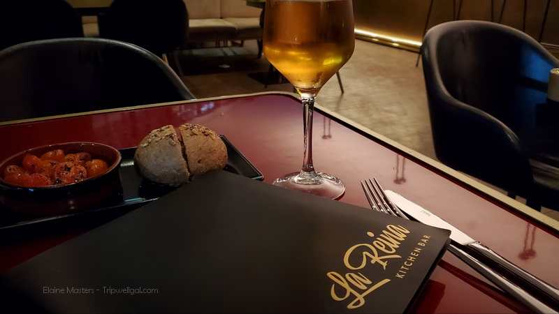 La Reina menu and draft beer