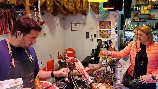 Iberica Shop with guide Molly Piccavey of Spain Food Sherpas