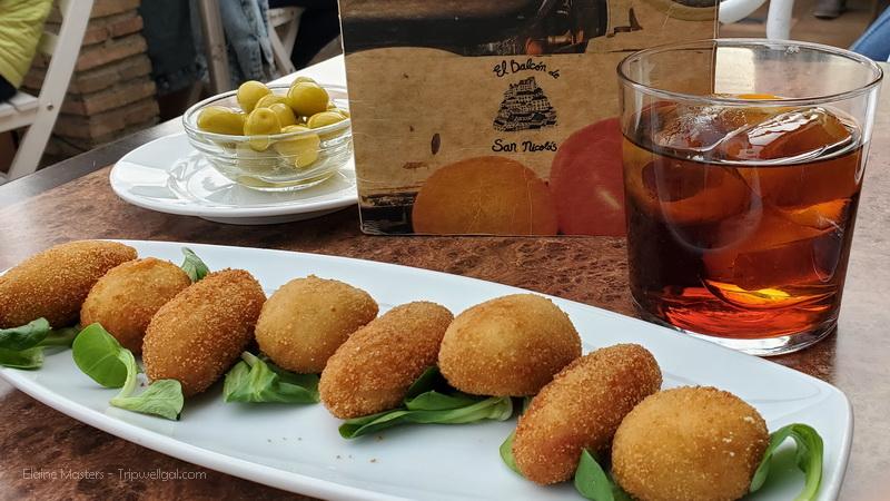 Croquettes and vermouth at El Balcon de San Nicolas