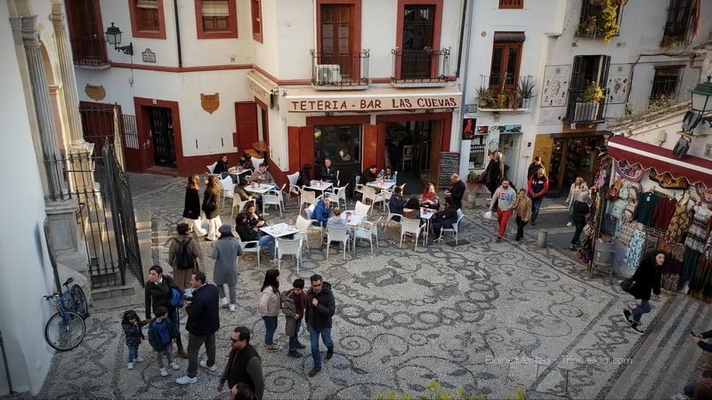 San Nicolas neighborhood in Granada, Spain