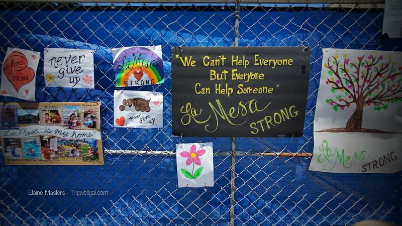 Memorial fence in La Mesa