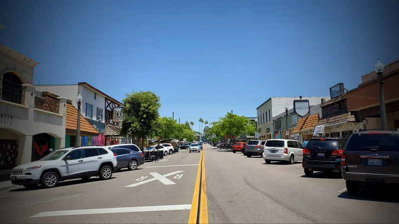 Downtown La Mesa Village a week after the riots
