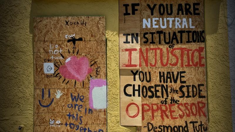 Desmond Tutu quote done by a La Mesa Village mural artist