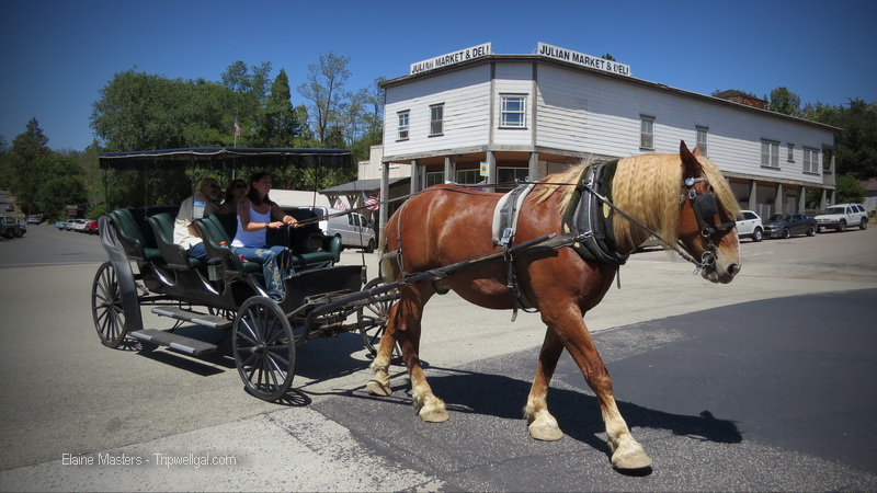 Make way for local traffic like this buggy ride in Julian, California