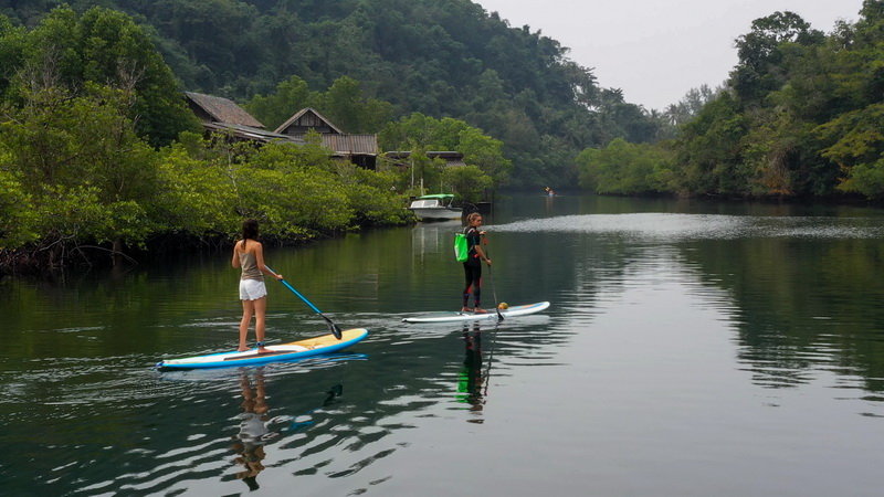Paddle boarding is part of the Conscious Experiences at Soneva