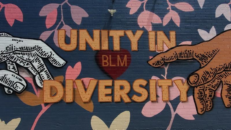 Black Lives Matter Mural in La Jolla Village