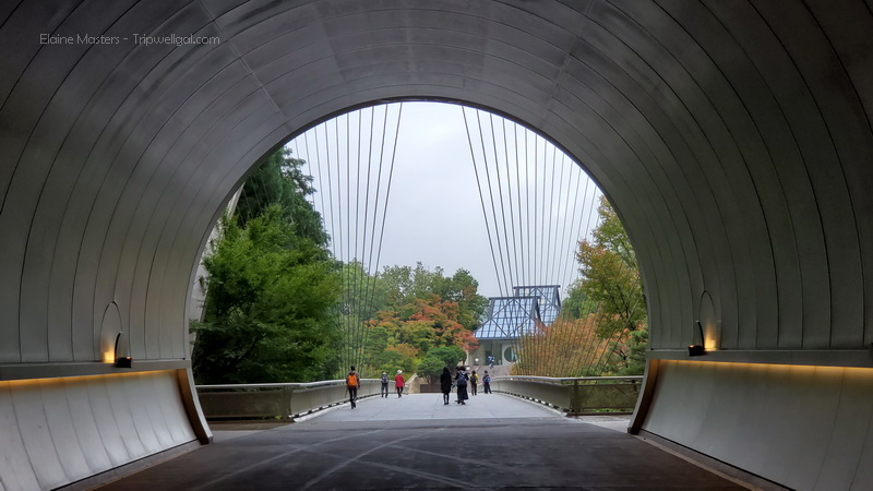 Exiting the Miho Museum tunnel one of the best off the beaten path Kyoto adventures.