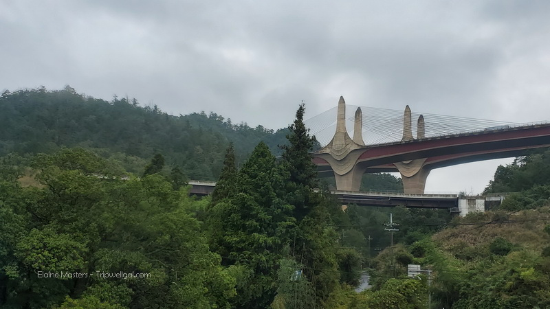 Bridge glimpsed from bus ride between Kyoto and the Miho Museum