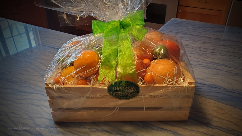 The beautiful Melissa's Citrus Basket delivered to your front door