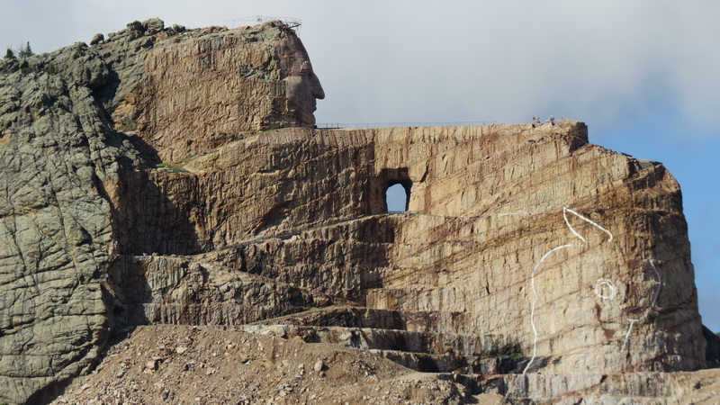 Crazy Horse Memorial under construction in North Dakota