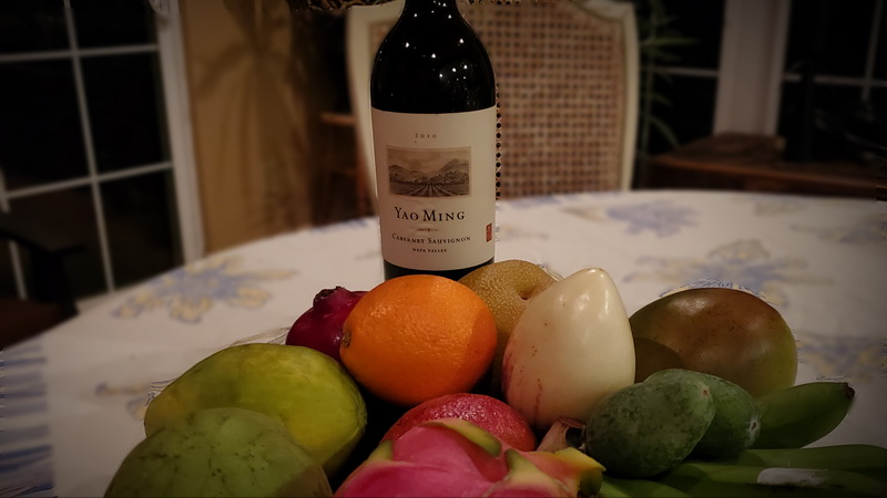 Napa Wine included in a Melissa's Exotic Fruit Basket