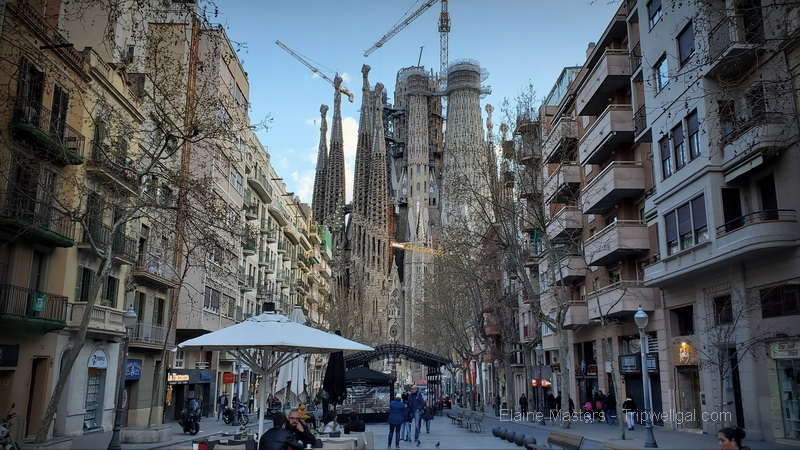 Sagrada Familia still looms over the center of Barcelona