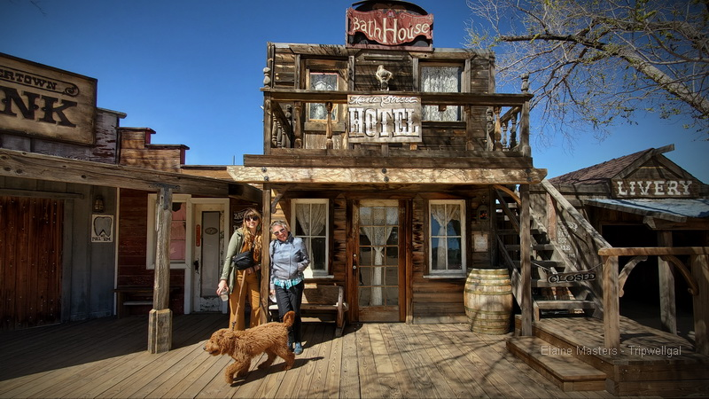A lighthearted moment in Pioneer Town in Yucca Valley