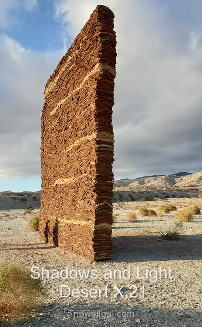 Shadows and light from Desert X 21 Sculpture