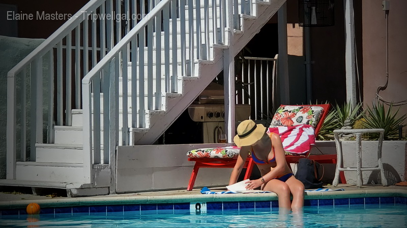 Quiet moment poolside at the Inn at Palm Springs