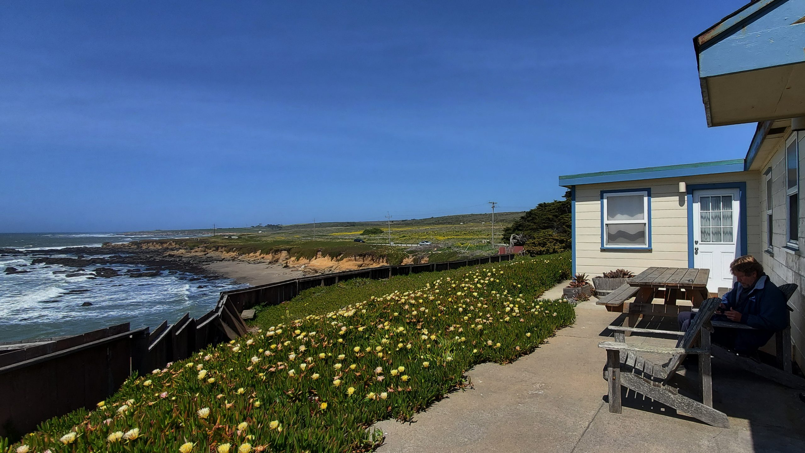 The north side of the Pigeon Point hostel, one of the best west coast lighthouses to visit