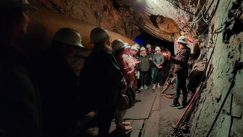 Touring the Country Boy Mine a trolley ride away from Main Street Breckenridge