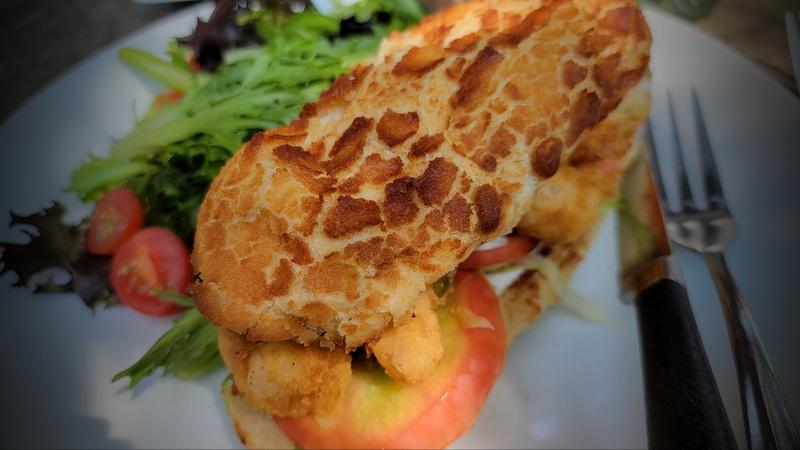 Blue River Bistro Shrimp Po' Boy Sandwich